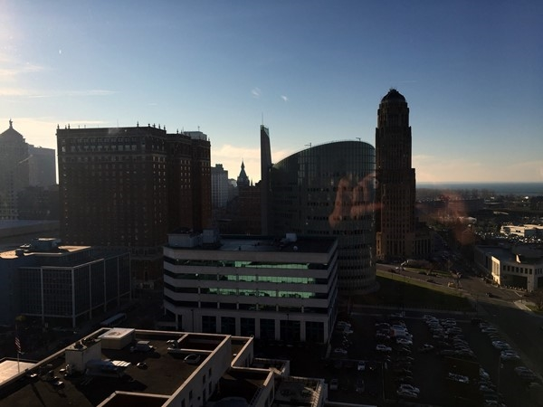 Another view from the Avant Building in downtown Buffalo - Lake Erie in the background