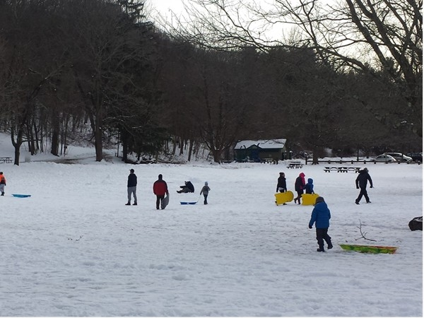 Things to do in Croton on Hudson -- Sledding at Croton Gorge Park