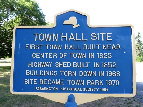 Site of the first Town Hall for Farmington in Ontario County