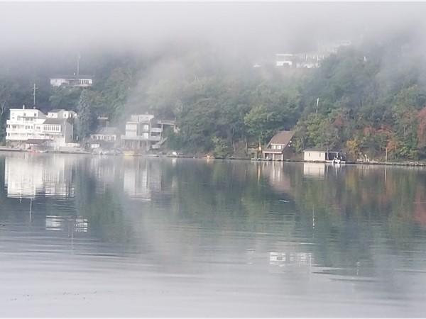 Morning walk view of Greenwood Lake