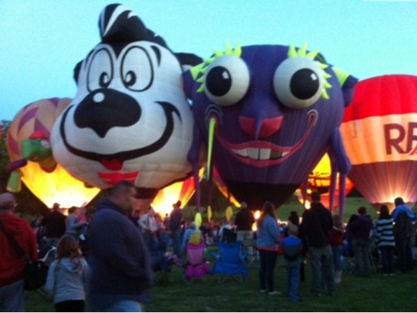 NYS Festival of Balloons help annually on Labor day weekend.