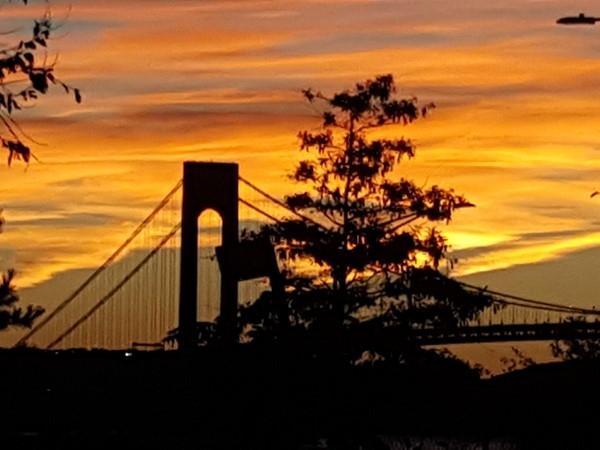 Sunset over the Varrazano Bridge