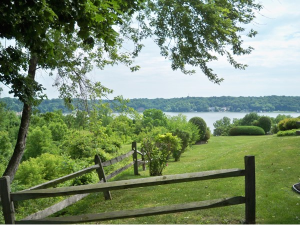 Imagine mowing your lawn and seeing this view of Irondequoit Bay