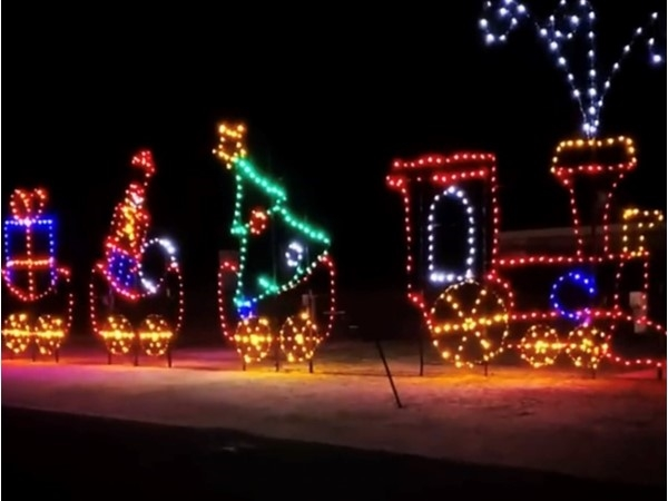 Christmas train at Smith Point Light Show