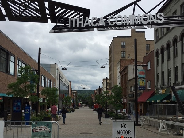 Ithaca Commons is an area with a wide variety of shopping