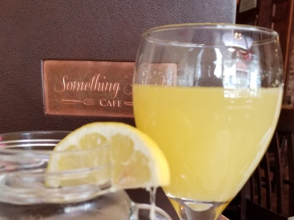 Mimosas for Brunch at Something Sweet Dessert Cafe