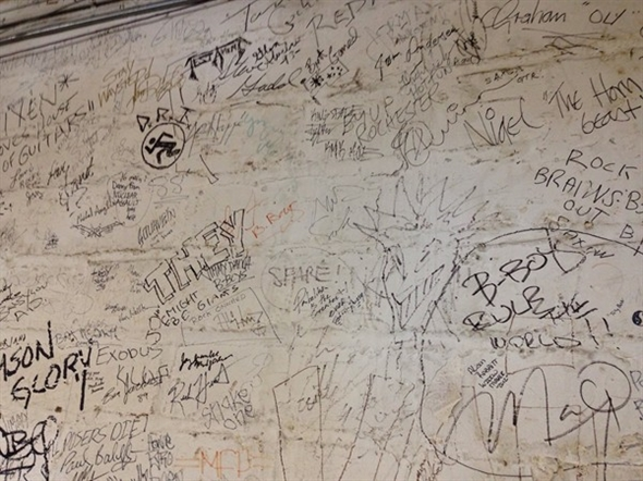 Every artist who plays Rochester visits House of Guitars and signs the Wall of Fame
