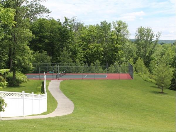 Tennis court at Meadow Glen in Monroe