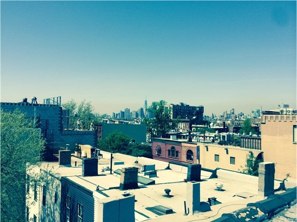 Park Slope Brooklyn NY rooftop view of Downtown Manhattan