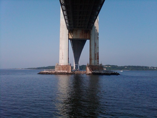 Take a stroll under the Verrazano early in the morning