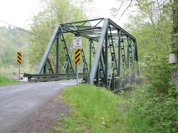 Old steel bridge over Salmon Creek