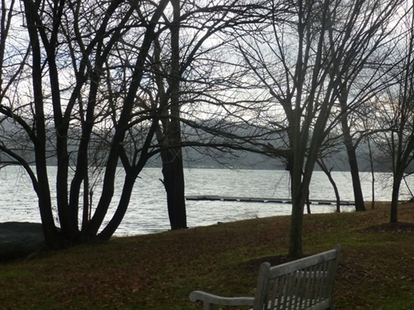 More of Rockland Lake with bench
