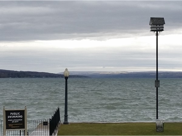 The blues and greens of Skaneateles Lake are beautiful no matter the weather