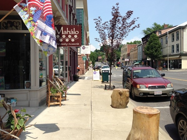 There are many unique shops in the quaint downtown area of Catskill.