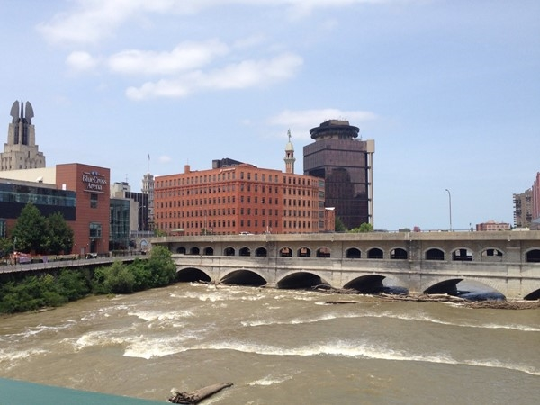 View of Genesee River and downtown Rochester