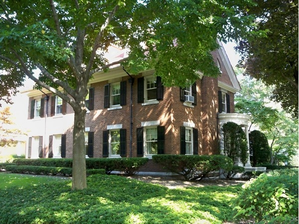 Williamsburg brick colonial home at 1150 East Avenue
