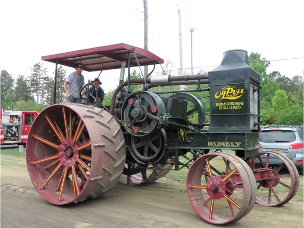 These steam engine tractors are huge! Steam Engine Festival in Canandaigua