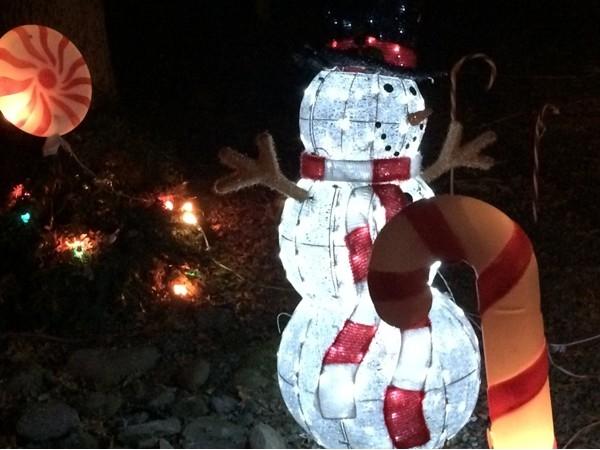 Snowman at Watt Christmas Wonderland in Goshen