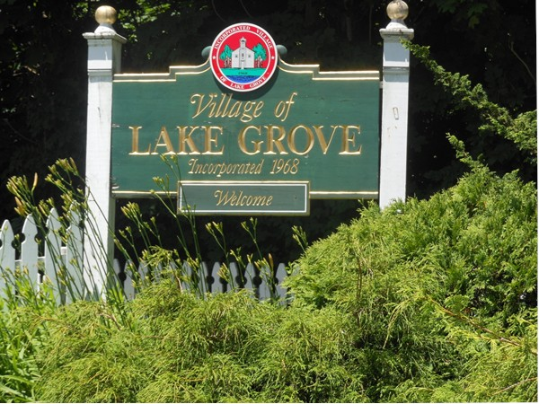 Entering the Lake Grove Village