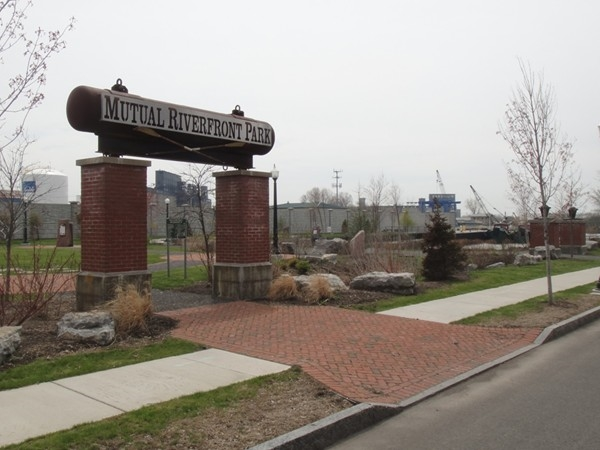 Mutual Riverfront Park in The Old First Ward, Buffalo NY