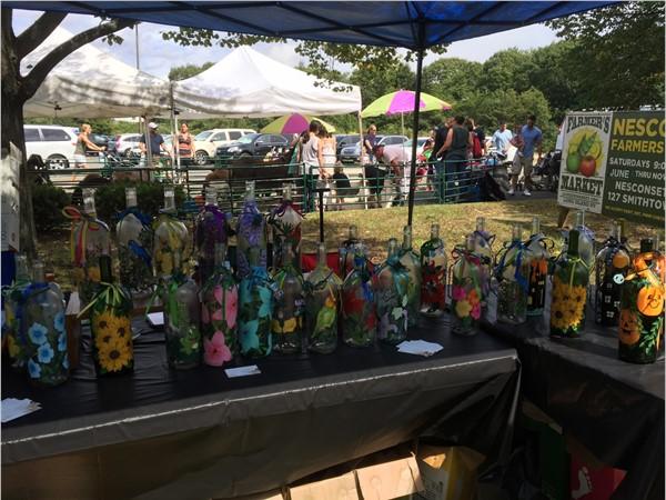 Glass Crafts at Nesconset Street Fair