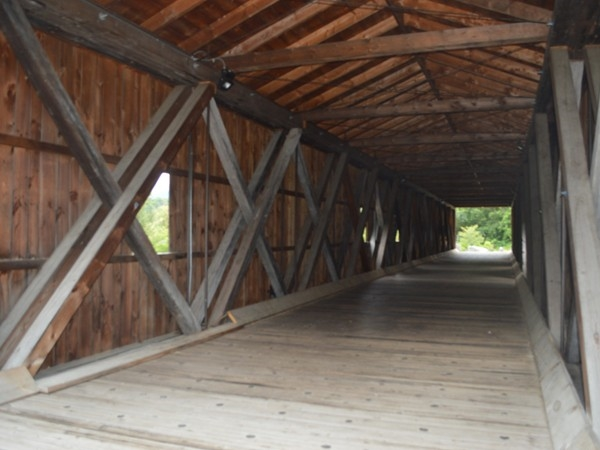 The Jay Covered Bridge offers many cutouts to see the views