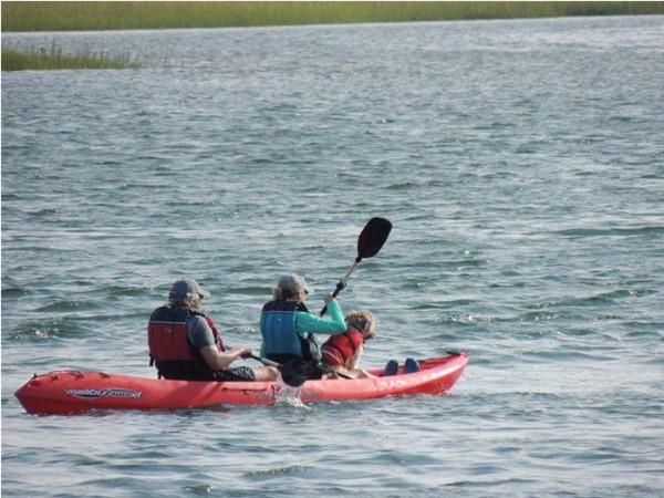 Kayak on Peconic River