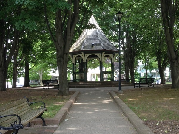 The gazebo in Corn Hill District, a popular spot during the arts festival!