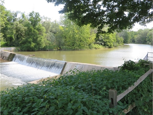 View of Honeoye Creek and the falls in the hamlet of Rush