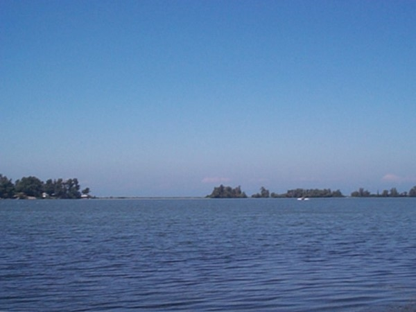Looking north towards Lake Ontario from Blind Sodus Bay, east of Port Bay
