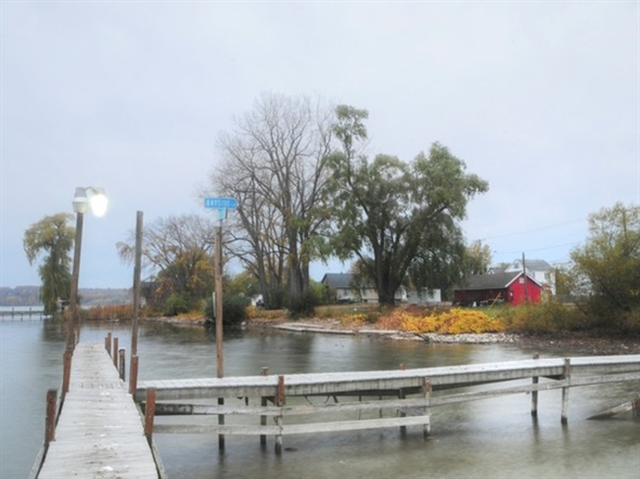 Irondequoit Bay behind the Bay Side Restaurant in West Webster