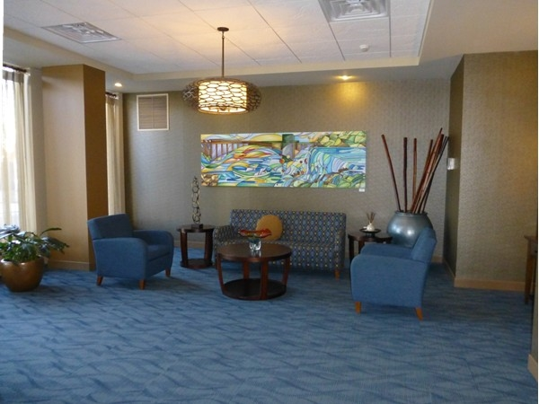 Newly remodeled lobby of Parkway Condominiums