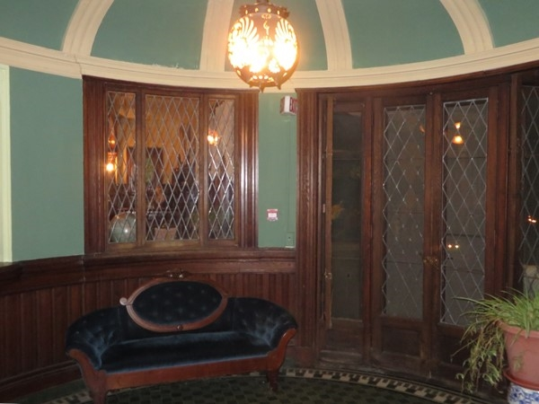 Dome ceiling in this vestibule off the front porch at the Sonnenberg Mansion