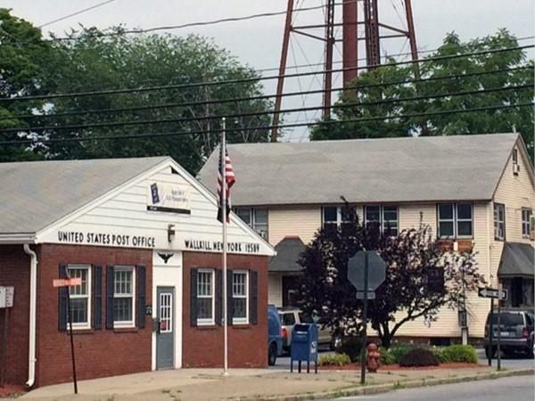 Wallkill Post Office in shadow of old-time water tower