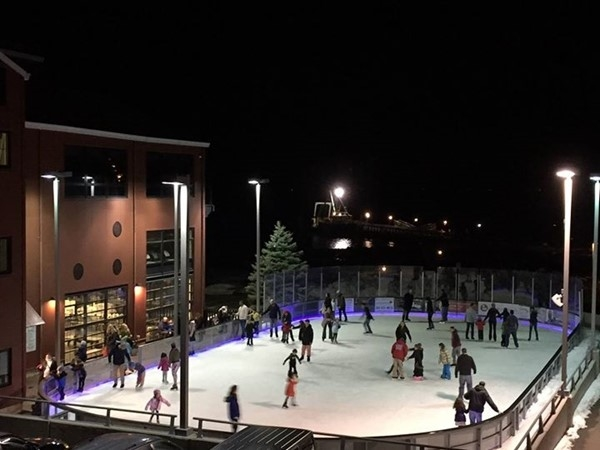 A perfect evening for ice skating at The Rinx in Port Jefferson
