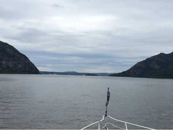 Aboard 'Pride of the Hudson,' with Constitution Island and West Point straight ahead