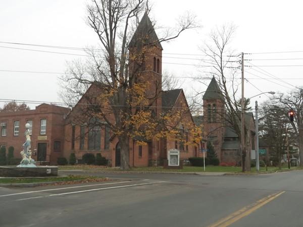 Church at the four corners of the Village of Wolcott