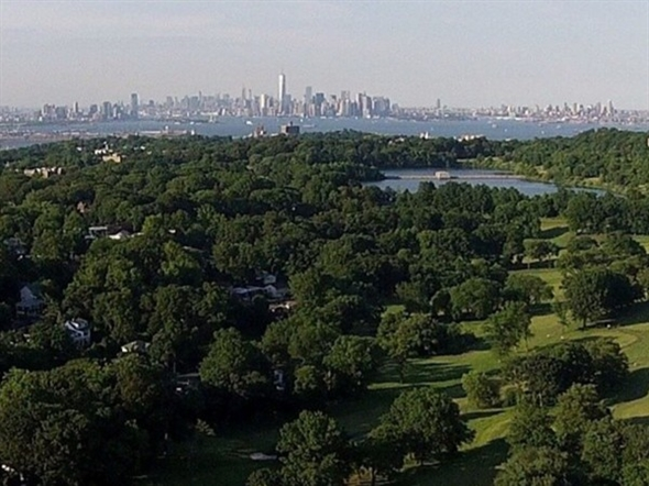 Great shot over Staten Island from the hills above Silver Lake, Staten Island
