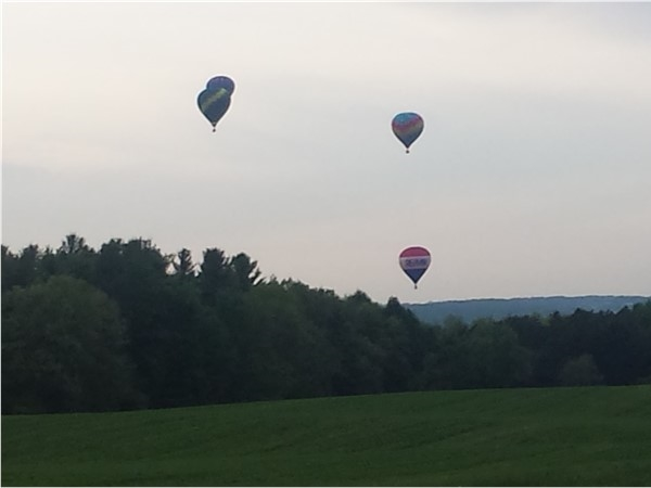 Friday night launch at Red White and Blue Hot Air Balloon Festival