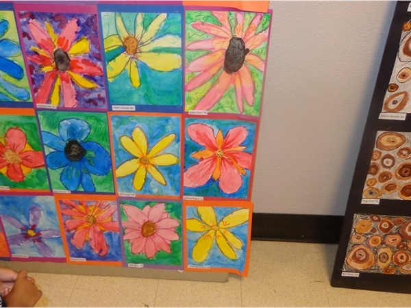 2014 Smallwood Art Show - Viewing students Watercolor exhibt