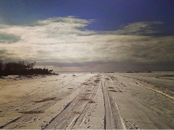 North Sea Beach near Cow Neck Point