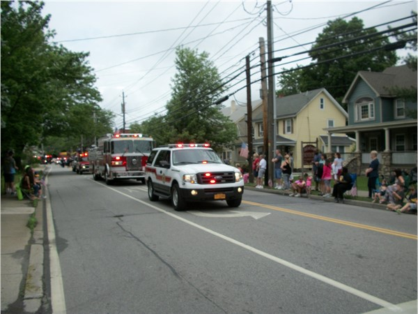 Fire trucks join the Memorial Day Parade