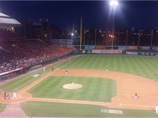 Perfect night for a ballgame at Coca-Cola Field