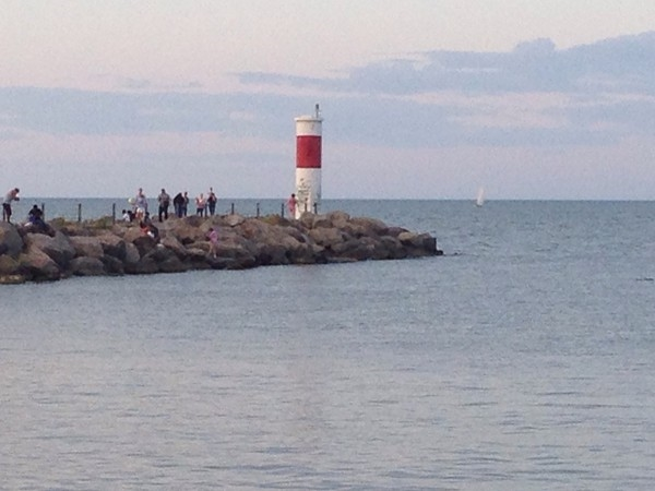 Lighthouse in Seabreeze on beautiful Lake Ontario