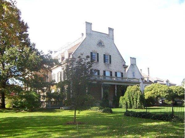View of the east side of the George Eastman House at 900 East Avenue