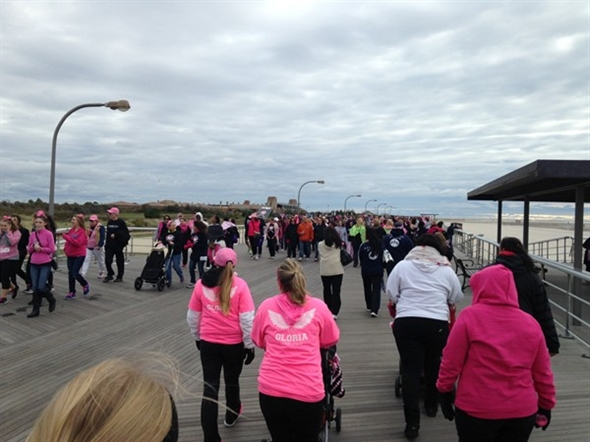 Pretty in Pink at the Jones Beach Boardwalk Breast Cancer Walk 2014