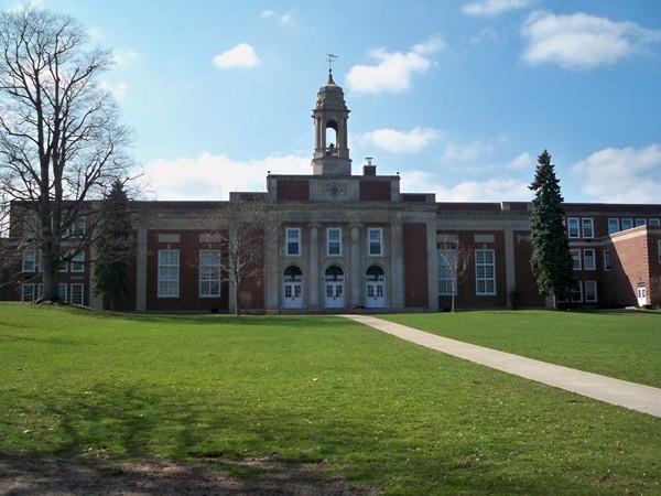 Leavenworth Central School built for K-12 on New Hartford Street in Wolcott