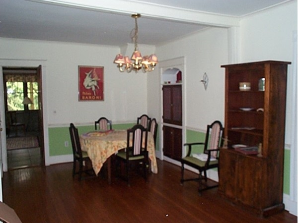 Formal dining room in the historic house in Naples