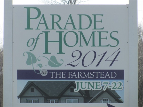 The Parade of Homes in the Farmstead is early this year.  It begins on June 7th.