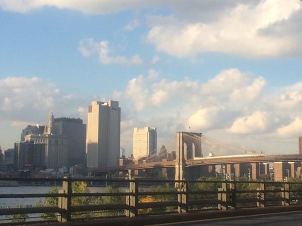 Beautiful view of the Brooklyn Bridge